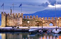 Centraal Griekenland vakantie Nafpaktos haven