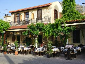 Oud Chersonissos taverne tijdens vakantie op Kreta