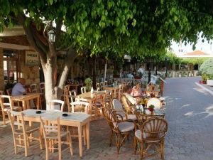 Chersonissos vakantie taverne in het oude gedeelte