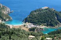 Corfu vakantie paleokastritsa uitzicht