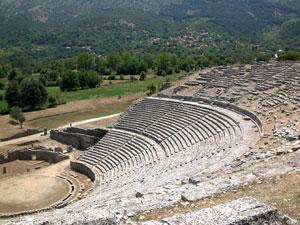 Het amfitheater van Dodoni in Epirus