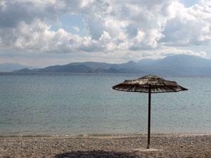 Griekenland klimaat en weer strand en bewolking