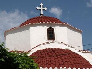 Kerk in Lindos op het eiland Rhodos.