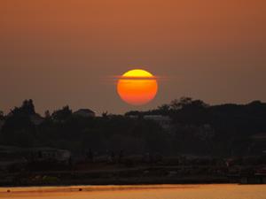 Griekenland klimaat en weer mooie zonsondergang