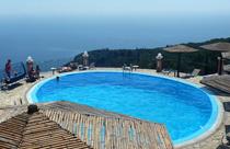 Griekenland vakantie accommodaties zwembad uitzicht
