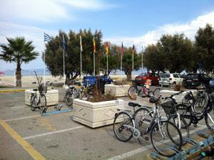Fietsen bij Tigaki op Kos in Griekenland.