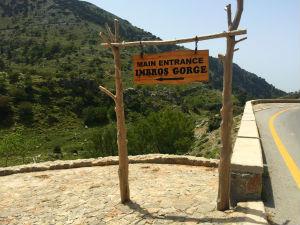 Imbros kloof Kreta ingang