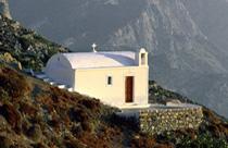 Karpathos vakantie kapelletje met uitzicht