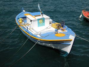 Vissersbootje op Kefalonia