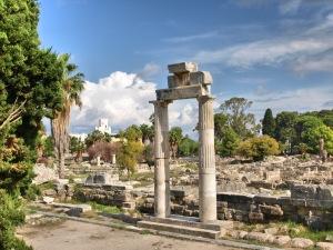 Kos stad de oude agora