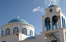 Kos vakantie kerktoren Kardamena