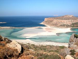 Kreta vakantie Balos beach strand en uitzicht