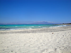 Kreta vakantie Chrissi eiland zandstrand