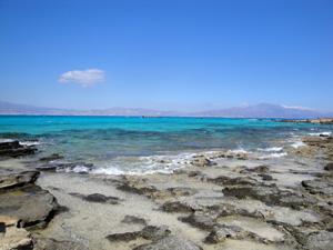 Kreta vakantie Chrissi eiland zee en rotsen