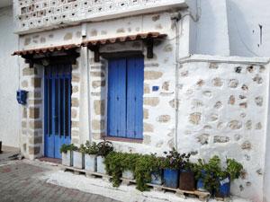 Het oude gedeelte van Chersonissos op Kreta.