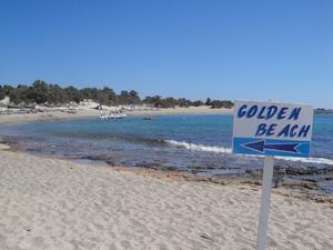 Golden beach met prima zwemwater op Kreta