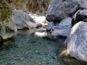 Beekje in de Samaria kloof in Chania op Kreta.