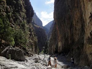 Kreta vakantie Samaria kloof rotsen