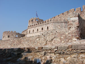 Het kastro in Mytilini op Lesbos