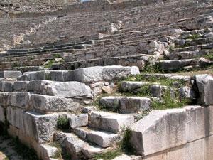 Amfitheater bij Filipi in Macedonie.