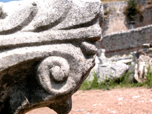 Ruines van Filipi in Macedonie