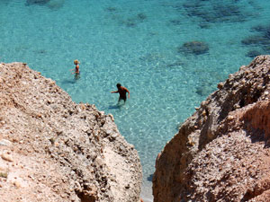 Tsigrado beach op Milos