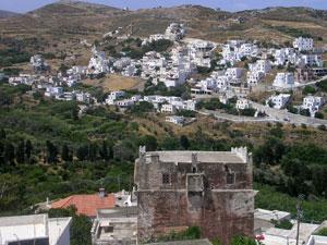 De Melanes dorpen op Naxos.