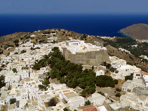 Patmos het stadje Kontos