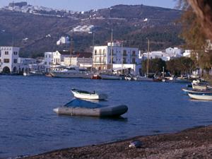 Patmos uitzicht op Kontos