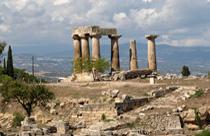 Peloponnesos vakantie ancient korinthe tempel