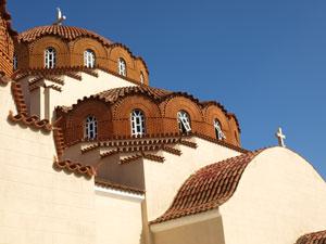 Bijzantijnse kerk op de Peloponnesos.