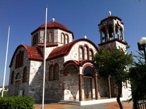 Fraaie Byzantijnse kerk op de Peloponnesos