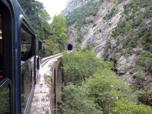 Diakofto treintje naar Kalavrita Peloponnesos