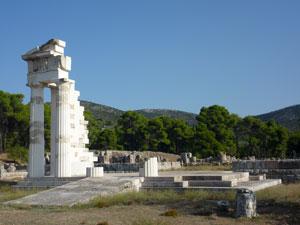 Epidaurus tempel op de Peloponnesos