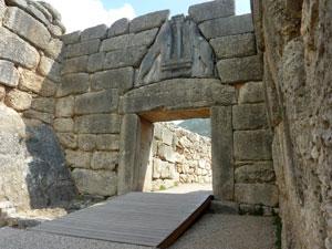 Mycenea op de Peloponnesos.