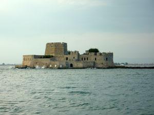 Bourtzi bij Nafplion op de Peloponnesos