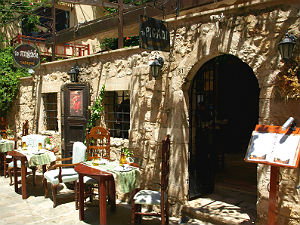 To Pigadi restaurant in Rethymnon op Kreta
