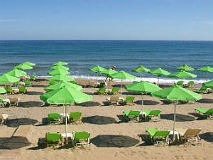 Strand van Rethymnon op Kreta