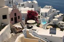 Santorini vakantie Oia uitzicht caldera
