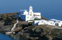 Sifnos vakantie Chrissopigi kerk