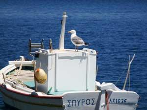 Chios vakantie Lagada vissersboot