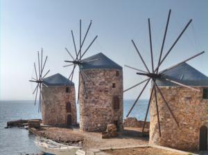 Chios vakantie windmolens