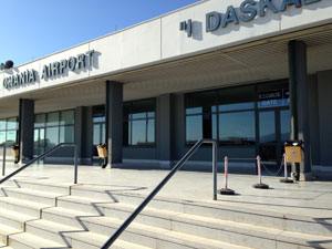 Chania airport op Kreta