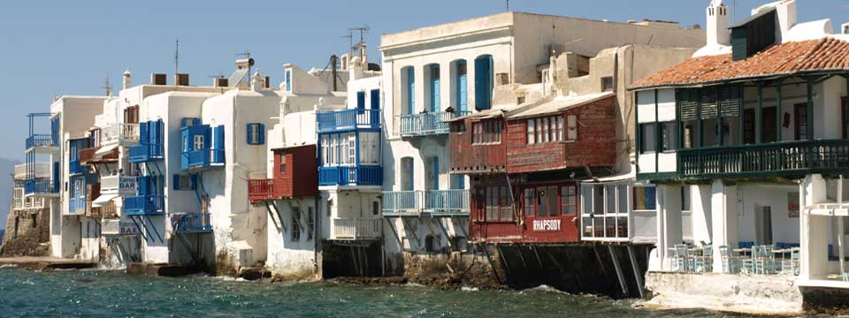 Little Venice op Mykonos in Griekenland