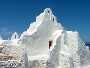 Paraportiani kerk in Chora op Mykonos