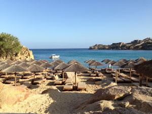 Super Paradise Beach op Mykonos