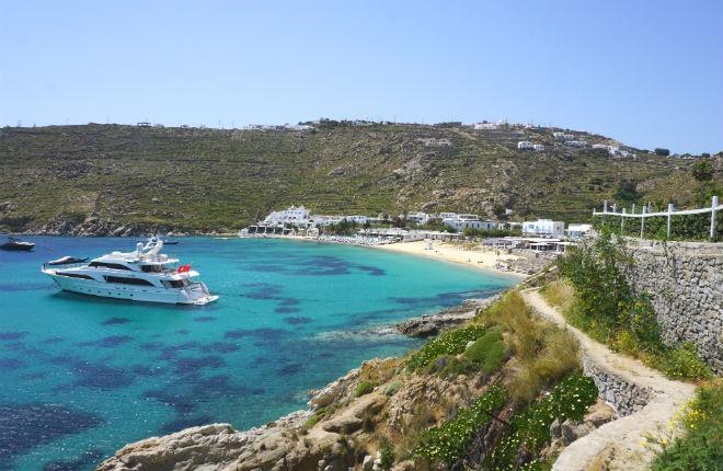 Psarou beach Mykonos vakantie