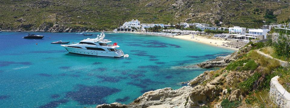Psarou beach Mykonos Griekenland