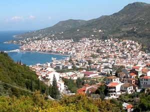 Vathi uitzicht Samos