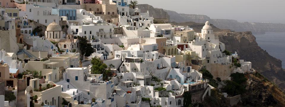 Santorini vakantie Fira Caldera